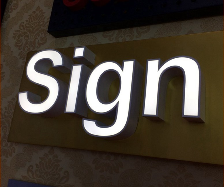 Rim Channel Letters | Vzom Signs - LED Illuminated Signs